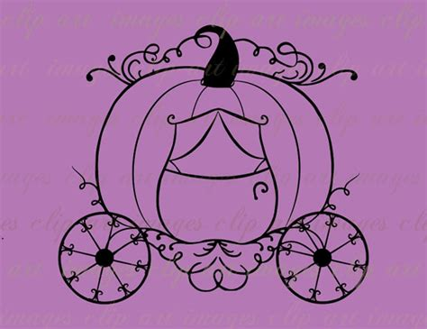 Cinderellas Coach Pumpkin Stencil by Pumpkin Carriage Clip Art Royalty Free Cinderella By
