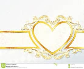 wedding banner horizontal rococo wedding banner with emblem royalty free stock images image 14239629