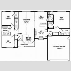 Attractive One Level Home Plan  19506jf Architectural