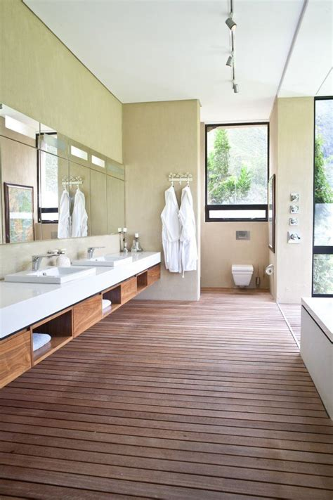 Modern Bathroom Mirrors South Africa by Looks Like Built In Lights In The Mirrors Also Like The