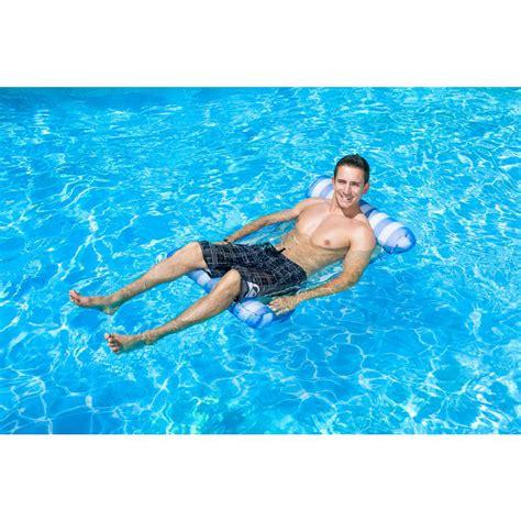 Water Hammock Blue Intl poolmaster blue water hammock swimming pool float lounge