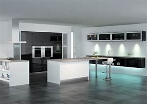 modele cuisine blanc laque modern aatl With modele cuisine blanc laque