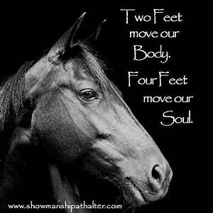 Two feet move o... Free Horses Quotes