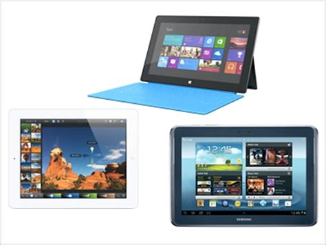 how much the tablet feature comparison of the microsoft surface and