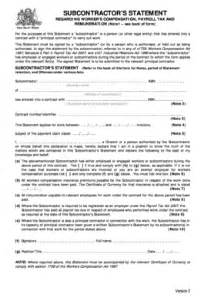 Subcontractor Statement Fill Online Printable Fillable