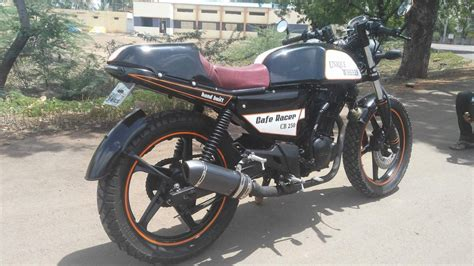 Karizma Modified Cafe Racer by Karizma Gets Hit By A Time Machine Turns Into A Cafe