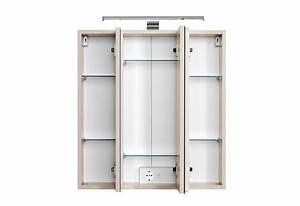 Spiegelschrank 55 Cm Breit : bad spiegelschrank 3 t rig mit led aufbauleuchte 60 cm breit buche bad spiegelschr nke ~ Indierocktalk.com Haus und Dekorationen