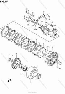 Suzuki Atv 2005 Oem Parts Diagram For Clutch  Model K2
