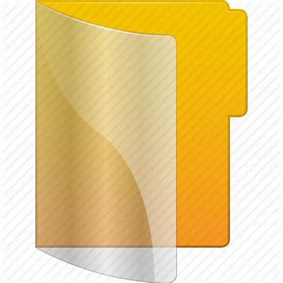 Folder Icon Transparent Library Document Yellow Directory