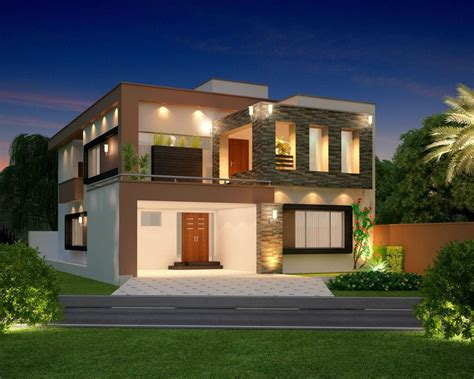 Home Design Front Elevation House Company  House Plans