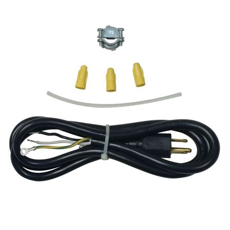 home depot l cord whirlpool 3 prong dishwasher power cord kit 4317824 the
