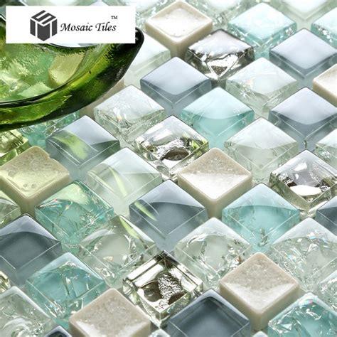 tst glass tile blue aqua mosaic porcelain chips