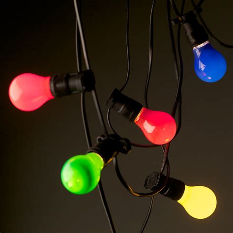 colored outdoor lights will bring more color to your