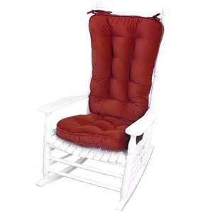 scarlet microfiber reversible rocking chair jumbo size cushion set