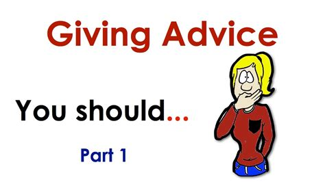 Giving Advice  You Should  Easy English Conversation