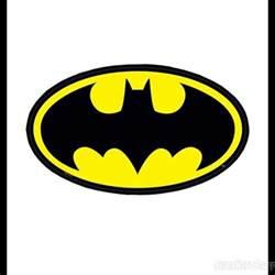 high five cake topper pin batman symbol on