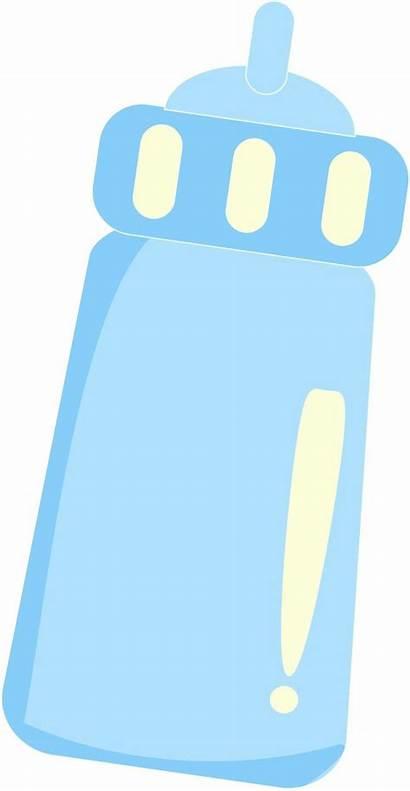 Bottle Clip Clipart Boy Milk Bottles Shower