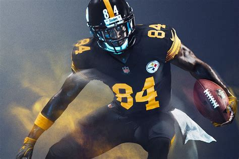 steelers unveil  christmas day color rush uniforms
