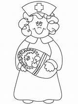 Nurse Coloring Pages Nurses Printable Nurse4 Cartoon Doctor Colouring Florence Nightingale Nursing Printables Children sketch template