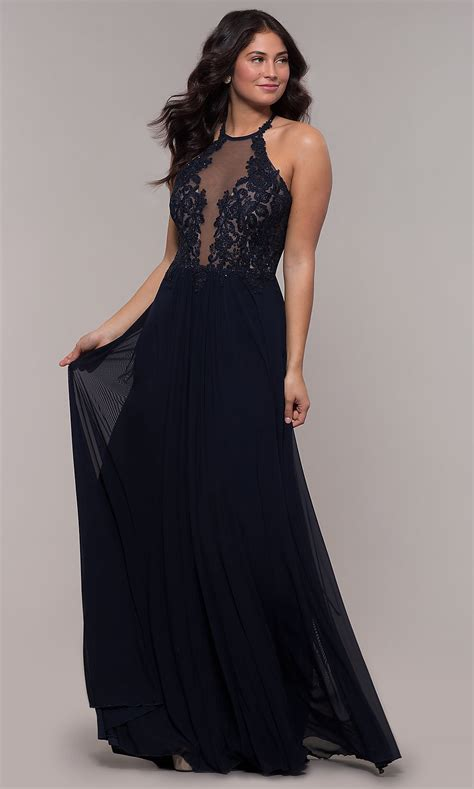 High-Neck Red Faviana Designer Prom Dress - PromGirl