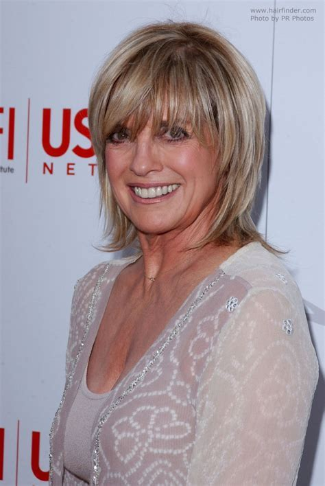 Linda Gray   Short razor cut **** hairstyle with a side