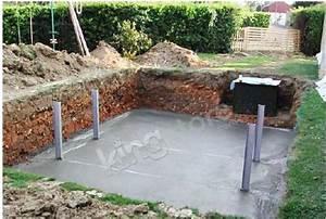 piscine bois nortland ubbink ocea allongee en kit With dalle beton pour piscine
