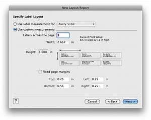 creating a custom mailing label size filemaker With address label size