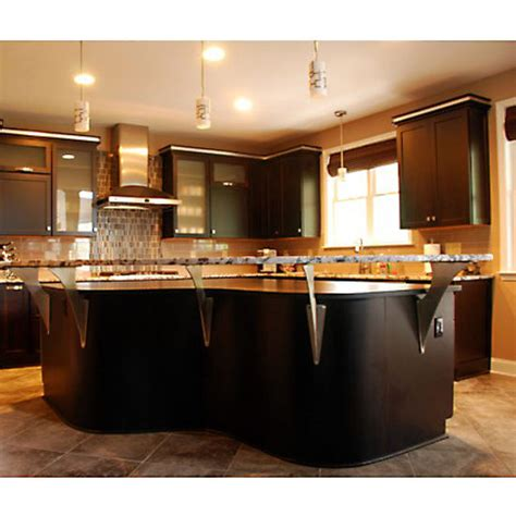 Kitchen Countertop Support Brackets by Creating A Floating Countertop Or Breakfast Bar Is