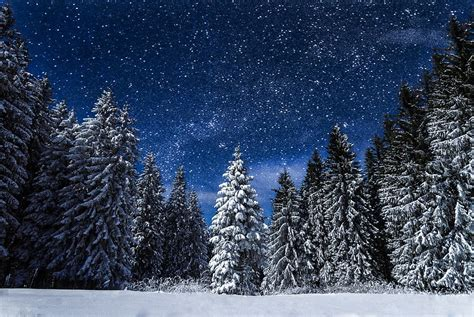 photo snow nature night travel blue  image