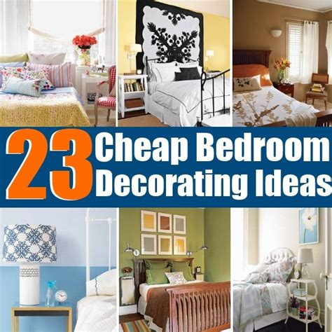 Bedroom Decor Ideas For Cheap by 23 Cheap And Easy Bedroom Decorating Ideas Diy Home Things