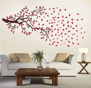 New way decals wall sticker floral botanical wallpaper