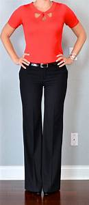 Outfit post red cutout sweater black dress pants black pumps   Outfit Posts
