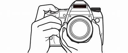 Camera Drawing Line Clip Dslr Photographer Transparent