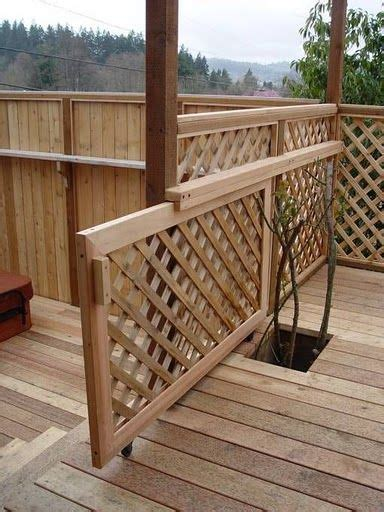 outdoor gate for deck stairs sliding gate for the deck would be great with pets or 7227