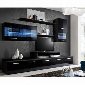 Meuble Tv 250 Cm : meuble tv mural design 39 logo 250cm noir ~ Teatrodelosmanantiales.com Idées de Décoration