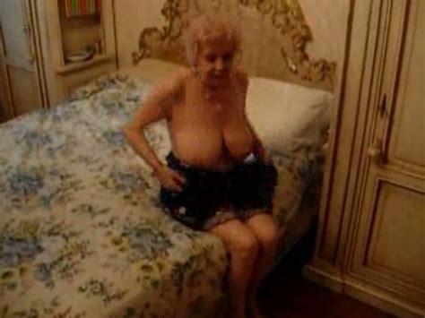 Friend s skanky busty grandma gets naked before stroking