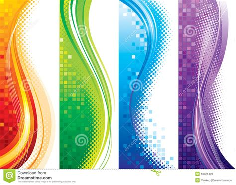 Vertical Image Vertical Banners Stock Vector Illustration Of Halftone
