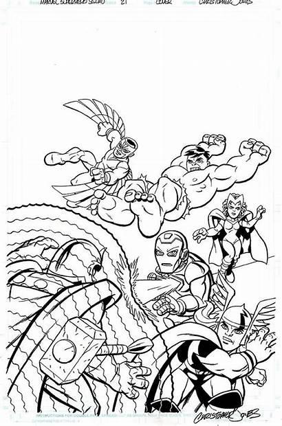 Coloring Pages Superhero Marvel Squad Super Hero