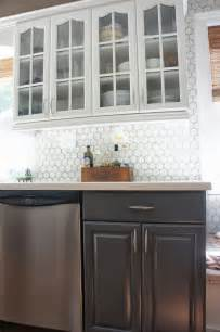hexagon tile kitchen backsplash gray and white kitchen makeover with hexagon tile backsplash construction home