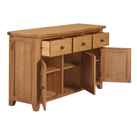Canterbury Oak Sideboard by Waxed Canterbury Oak 3 Door 3 Drawer Sideboard Homeplus