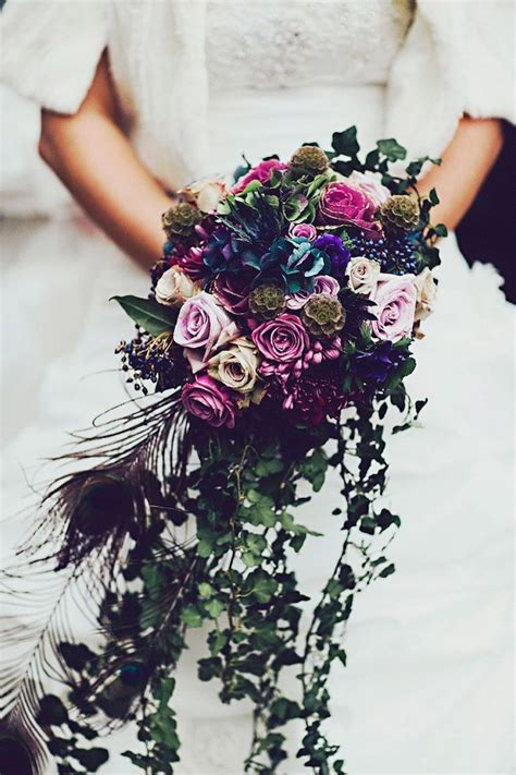 1000 Ideas About Peacock Wedding Flowers On Pinterest