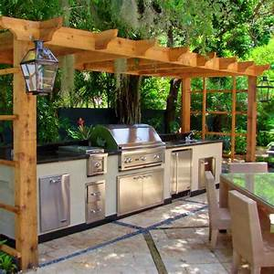 Contemporary Outdoor Kitchen Plan Inspiration - Decosee com