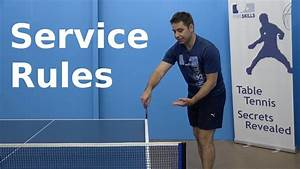 Service Rules Pingskills Table Tennis Youtube