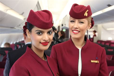 stewardesses qatar airways airbus axwb  ala flickr
