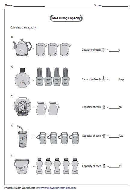 unitary method customary units marwa capacity