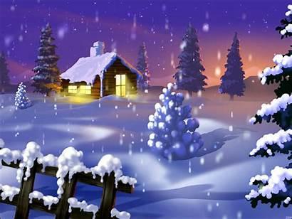 Backgrounds Cabin Winter Desktop Snow Merry Lights