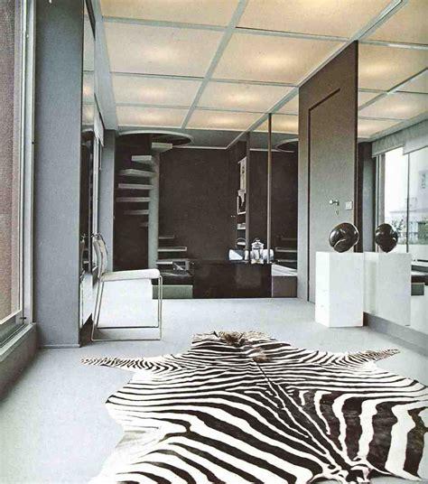 zebra rug living room decor ideas