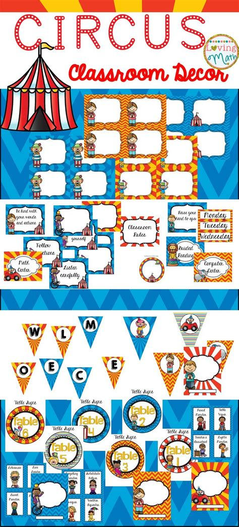 circus classroom theme ideas  decor images
