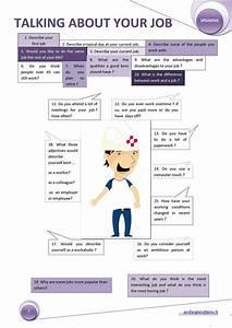 Job Skill Worksheets Talking About Your Job Worksheet Free Esl Printable