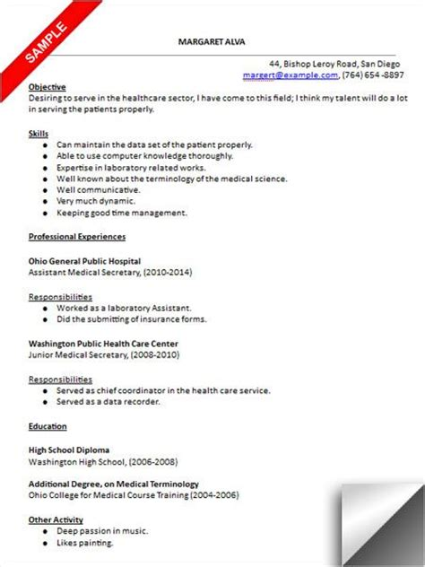 Office Resume Sles For Secretaries by 17 Images About Pharmacy Tech On Engineering